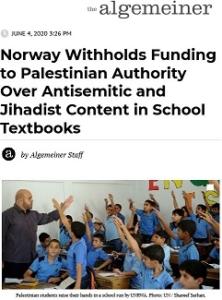 Algemeiner_Norway Withholds Funds_Screen