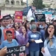 Arab-Israeli students protesting