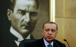 Attaturk over Erdogan's Shoulder