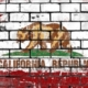 California flag pictured on a wall: How Anti-Semitism Almost Found a Place in California's School Curriculum