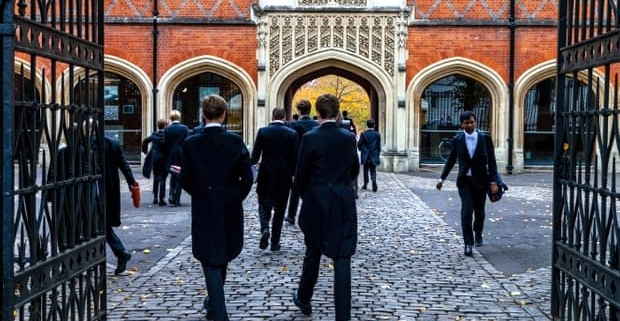 Eton Private School students walking to and from class
