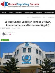 HonestReporting Canada_UNRWA- Canada
