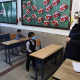 Iran classroom during pandemic