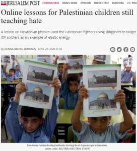JP-Online lessons for Palestinian children still teaching hate
