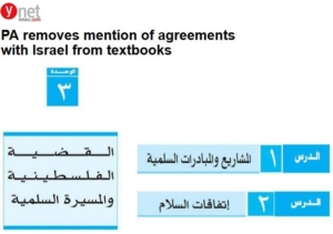 Reference to previous peace agreements removed from PA school books