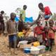 Picture of refugees, esp. children in Uganda