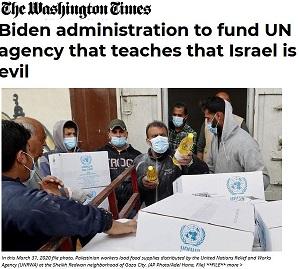 The Washington Times_UNRWA-FUNDING