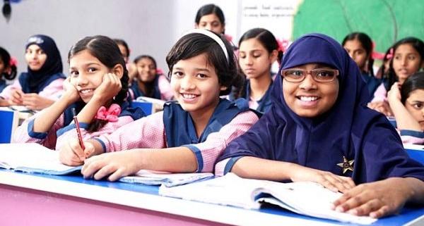 pic of students, girls Telangana-Minorities