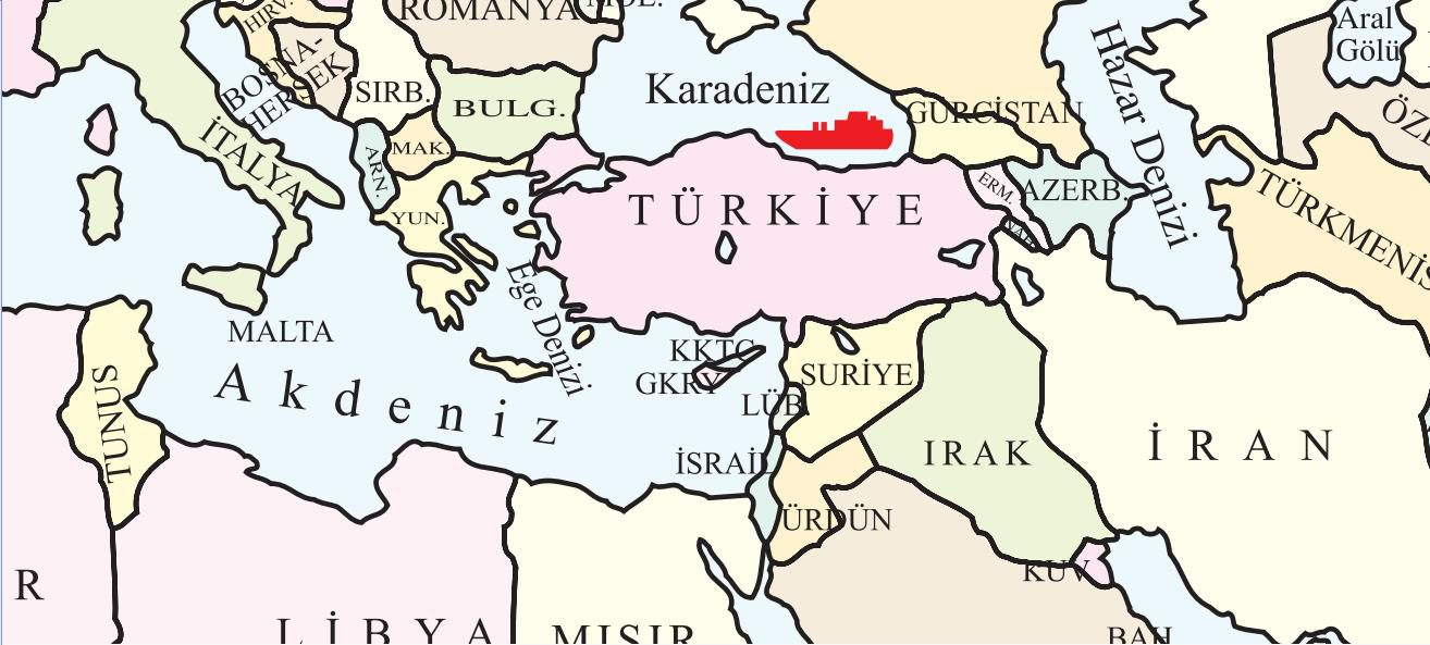 turkey-israel-map